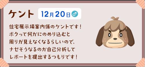 あつ森 誕生日 12月
