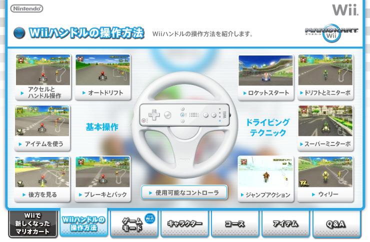 Wiiハンドルの操作方法